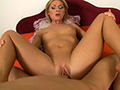 パイパンセクシー金髪美女をぶっかけセックス